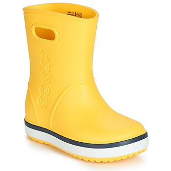 Čevlji  Otroci škornji za dež  Crocs CROCBAND RAIN BOOT K Rumena