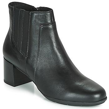 Čevlji  Ženske Gležnjarji Geox D NEW ANNYA MID Črna