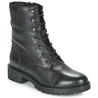 Čevlji  Ženske Gležnjarji Geox D HOARA Črna