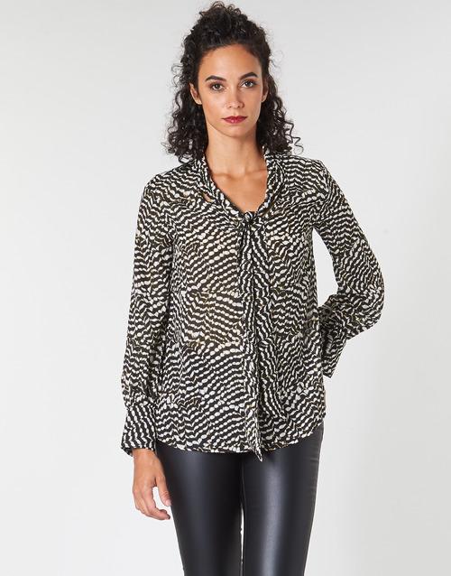 Oblačila Ženske Topi & Bluze Ikks BP13065-02 Bež / Črna