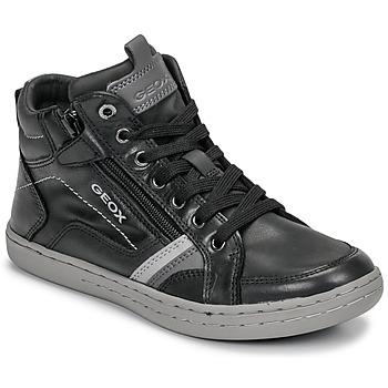Čevlji  Dečki Visoke superge Geox JR GARCIA BOY Črna / Siva