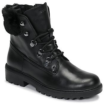 Čevlji  Deklice Polškornji Geox J CASEY GIRL WPF Črna
