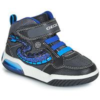 Čevlji  Dečki Visoke superge Geox J INEK BOY Črna / Modra