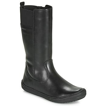 Čevlji  Deklice Mestni škornji    Geox J HADRIEL GIRL Črna