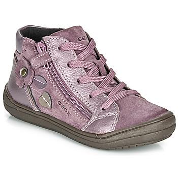 Čevlji  Deklice Polškornji Geox J HADRIEL GIRL Plum