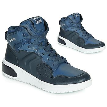 Čevlji  Dečki Visoke superge Geox J XLED BOY Modra / Led