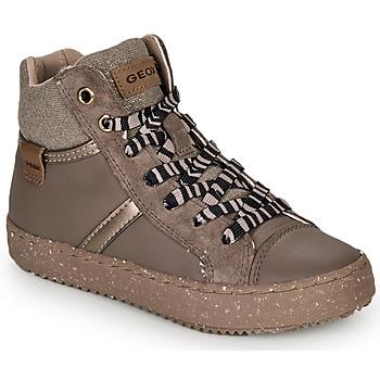 Čevlji  Deklice Visoke superge Geox J KALISPERA GIRL Siva