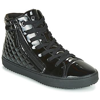Čevlji  Deklice Visoke superge Geox J KALISPERA GIRL Črna
