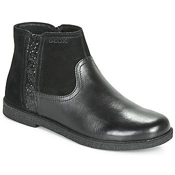 Čevlji  Deklice Polškornji Geox J SHAWNTEL Črna