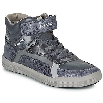 Čevlji  Dečki Visoke superge Geox J ARZACH BOY Modra / Siva