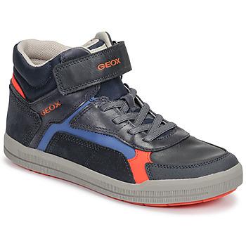 Čevlji  Dečki Visoke superge Geox J ARZACH BOY Modra / Oranžna
