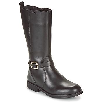 Čevlji  Deklice Mestni škornji    Geox JR AGATA Črna