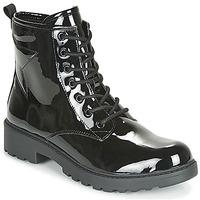 Čevlji  Deklice Polškornji Geox J CASEY GIRL Črna