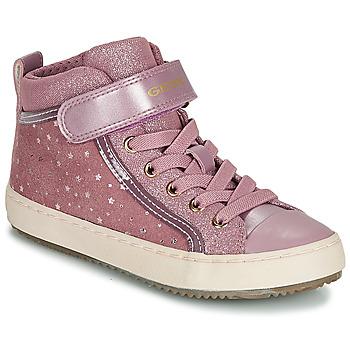 Čevlji  Deklice Visoke superge Geox J KALISPERA GIRL Rožnata
