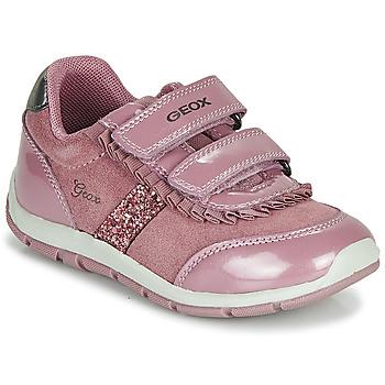 Čevlji  Deklice Nizke superge Geox B SHAAX Rožnata