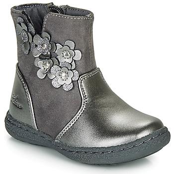 Čevlji  Deklice Mestni škornji    Chicco CINEY Siva