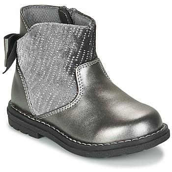 Čevlji  Deklice Mestni škornji    Chicco CORRY Siva