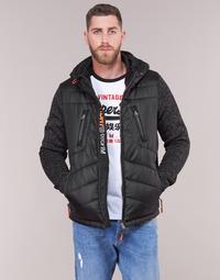 Oblačila Moški Puhovke Superdry STORM HYBRID ZIPHOOD Črna