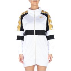 Oblačila Ženske Kratke obleke Kappa 222 BANDA 10 BANIK 913-white-black-yellow
