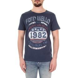 Oblačila Moški Majice s kratkimi rokavi Fred Mello FM19S09TG Blu