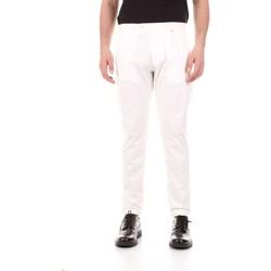 Oblačila Moški Hlače s 5 žepi Bicolore F2576-ZINCO Bianco