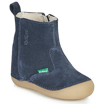 Čevlji  Otroci Mestni škornji    Kickers SOCOOL Modra