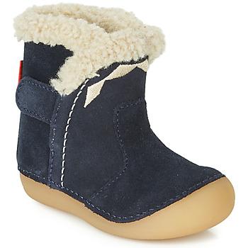 Čevlji  Otroci Mestni škornji    Kickers SOFUR Modra