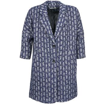 Oblačila Ženske Plašči See U Soon RIFFLE Modra / Bela