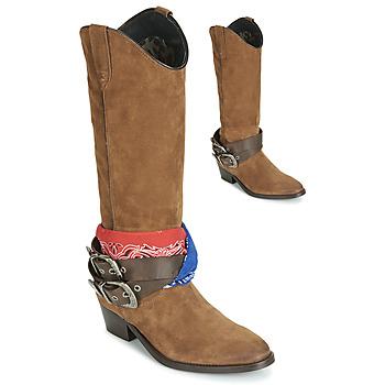 Čevlji  Ženske Mestni škornji    Replay FRUITLAND Kamel