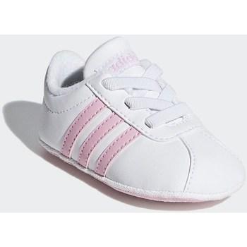 Čevlji  Deklice Nizke superge adidas Originals VL Court 20 Crib Bela