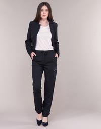 Oblačila Ženske Hlače cargo G-Star Raw FELDSPAR HIGH STRAIGHT CARGO Modra