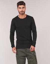 Oblačila Moški Majice z dolgimi rokavi G-Star Raw BASE TEE Črna