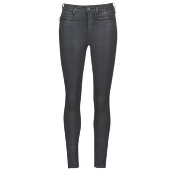 Oblačila Ženske Jeans skinny G-Star Raw ASHTIX ZIP HIGH SUPER SKINNY ANKLE WMN Črna