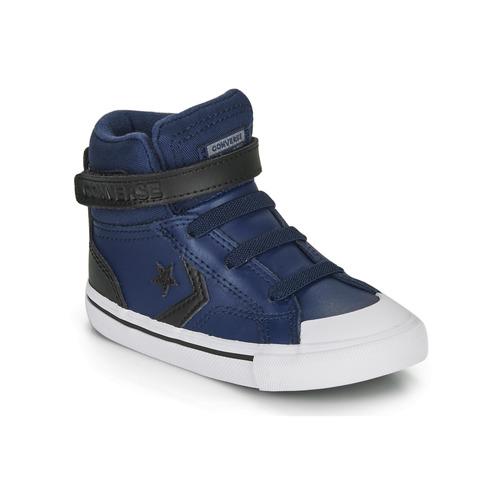 Čevlji  Otroci Visoke superge Converse PRO BLAZE STRAP MARTIAN LEATHER HI Modra / Črna
