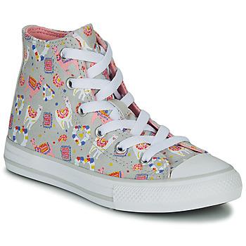 Čevlji  Deklice Visoke superge Converse CHUCK TAYLOR ALL STAR LLAMA HI Siva / Večbarvna