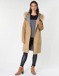 Oblačila Ženske Plašči Oakwood YALE BI Kamel / Siva