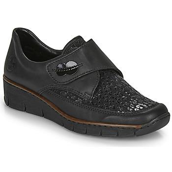 Čevlji  Ženske Čevlji Derby Rieker 537C0-02 Črna