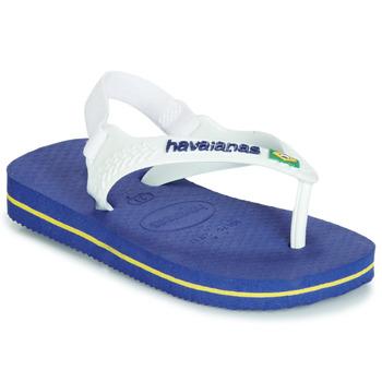 Čevlji  Otroci Japonke Havaianas BABY BRASIL LOGO Modra