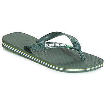 Čevlji  Japonke Havaianas BRASIL LOGO Olive
