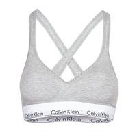 Spodnje perilo Ženske Topi Calvin Klein Jeans MODERN COTTON BRALETTE LIFT Siva