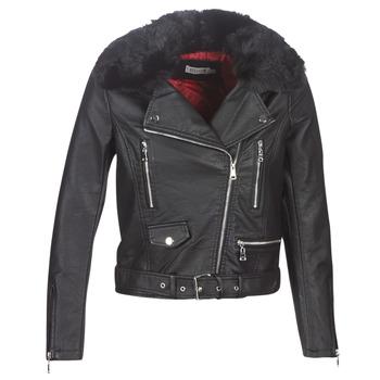 Oblačila Ženske Usnjene jakne & Sintetične jakne Molly Bracken HA006A21 Črna