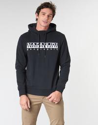 Oblačila Moški Puloverji Napapijri BERBER HOODIE Modra