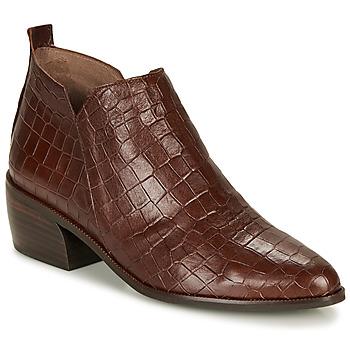 Čevlji  Ženske Polškornji Wonders E6022-COCO-MARRON Kostanjeva