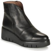 Čevlji  Ženske Polškornji Wonders E6210-VELVET-NEGRO Črna