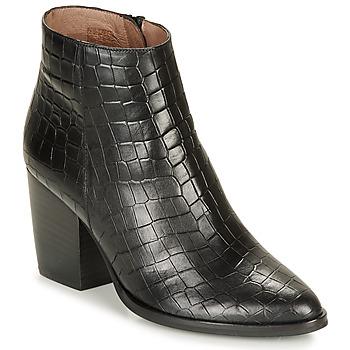 Čevlji  Ženske Gležnjarji Wonders M4103-COCO-NEGRO Črna