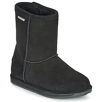 Čevlji  Deklice Polškornji EMU BRUMBY LO WATERPROOF Črna