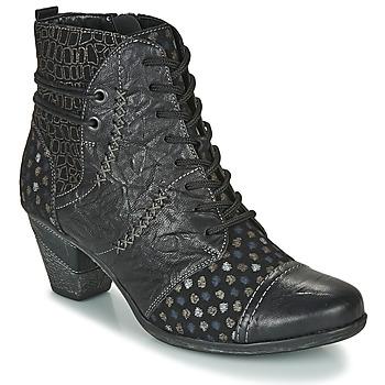Čevlji  Ženske Gležnjarji Remonte Dorndorf D8786-06 Črna