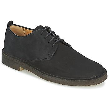 Čevlji  Moški Čevlji Derby Clarks DESERT LONDON Črna