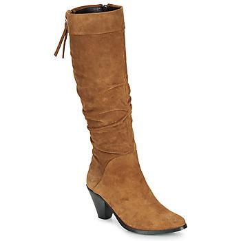 Čevlji  Ženske Mestni škornji    Regard RAKAFOU V2 CRTE VEL SILKY Kamel