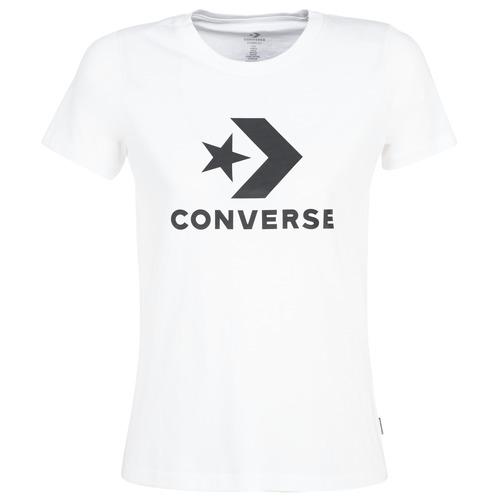 Oblačila Ženske Majice s kratkimi rokavi Converse STAR CHEVRON Bela